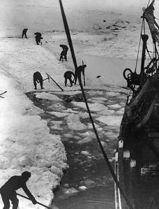Piochage de glace